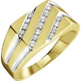 Ring for man - 10K 2-tone Gold & Diamonds