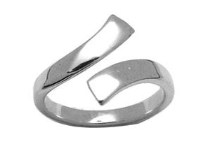 Toe ring in sterling silver