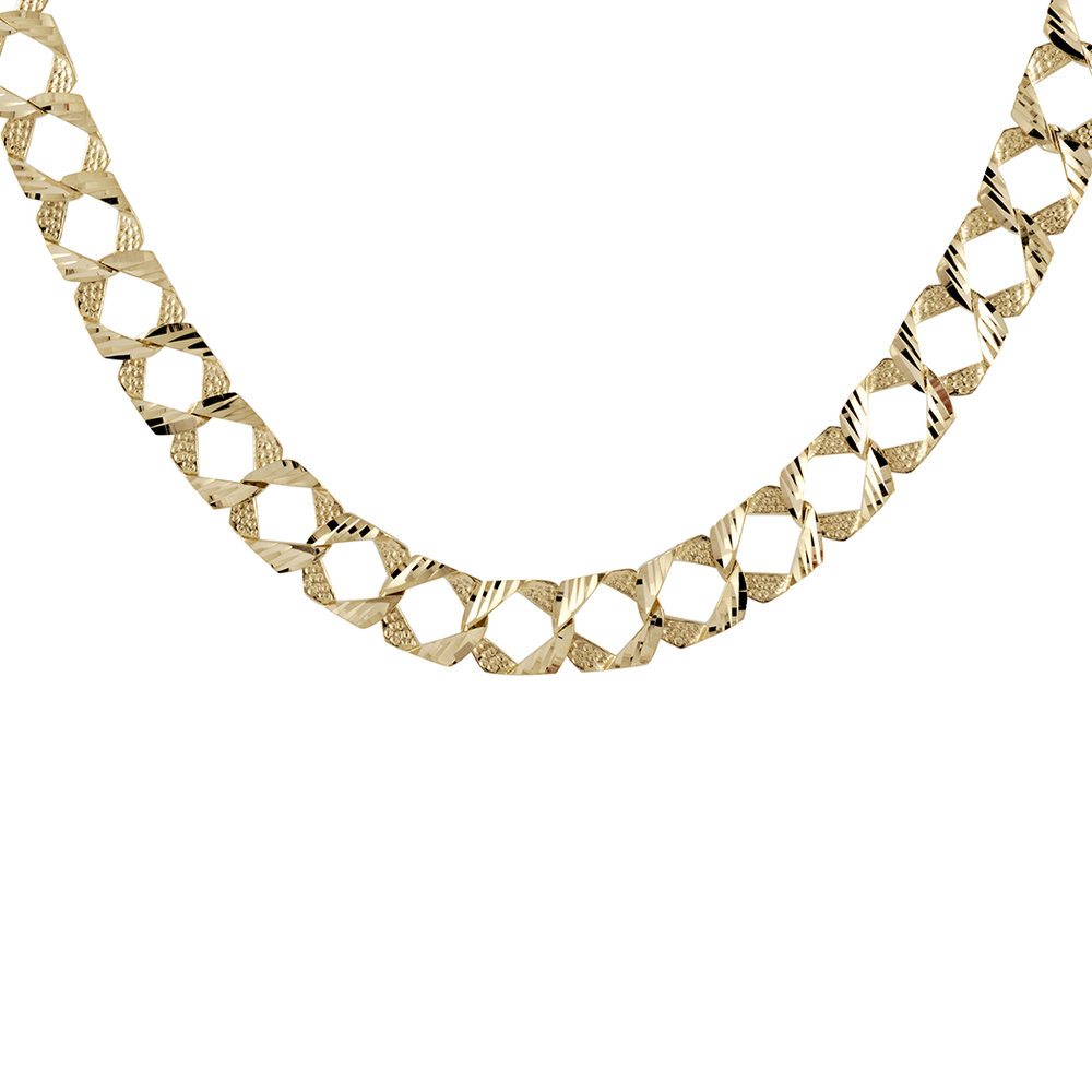 20'' Curb Chain for men - 10K yellow Gold