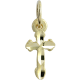 Small cross pendant for children - 10K yellow Gold
