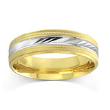 Band for men - 10K 2-tone Gold (white and yellow)*