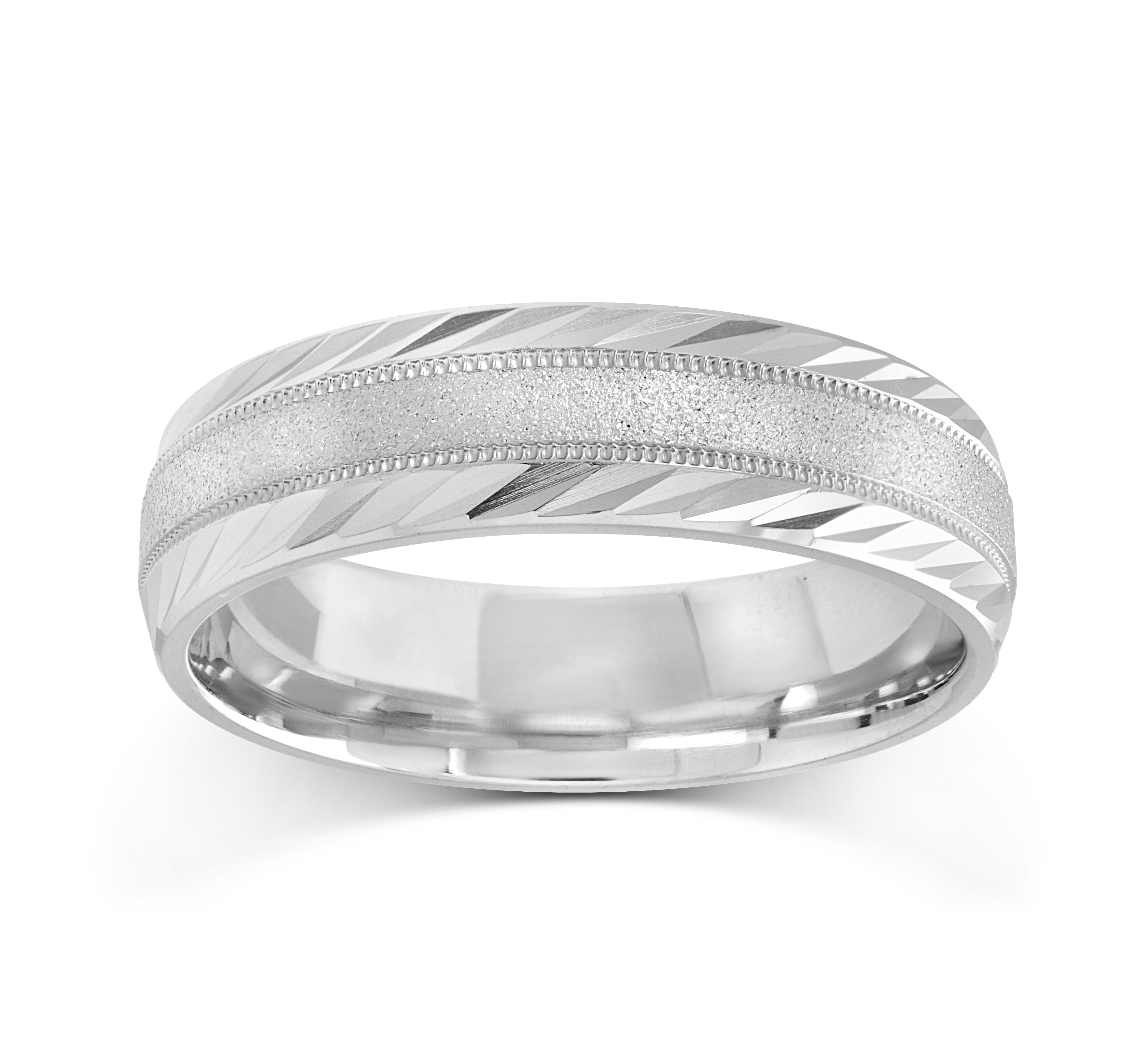 Band for men - 10K white Gold*