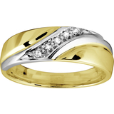 Band for man - 10K 2-tone Gold & Diamonds
