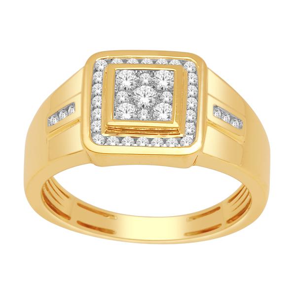 Bague pour homme -Or jaune 10K & Diamants totalisant 0.50 Carat