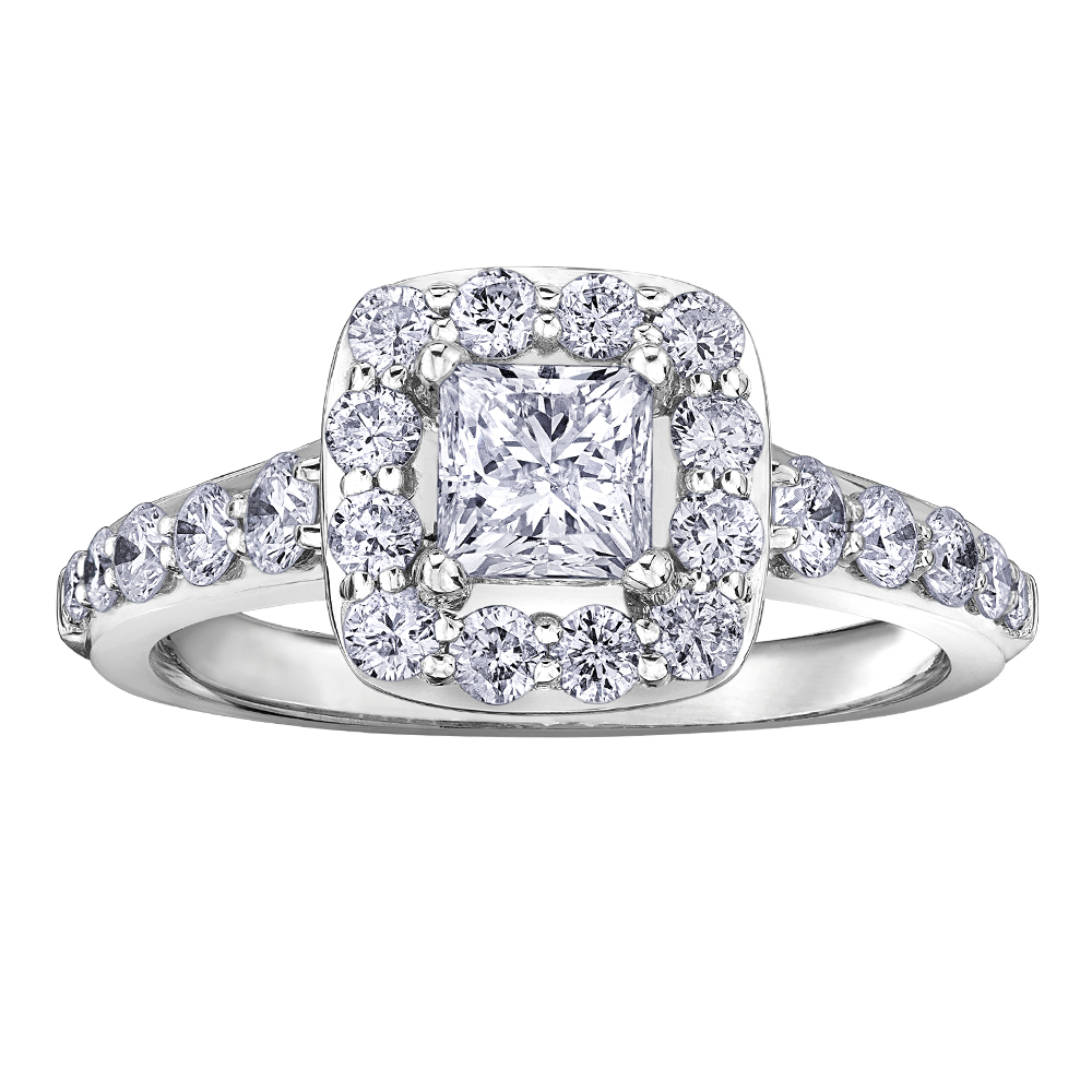 Engagement ring - 14K white Gold & Canadian diamonds