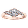 Engagement ring - 10K rose Gold & Canadian diamonds T.W. 25pts