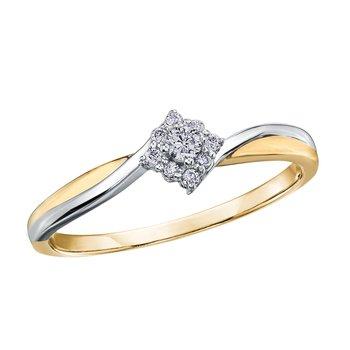 vente chaude en ligne ac411 4e1a7 Bague de fiançailles - Or 2-tons 10K (jaune et blanc) & Diamants Canadiens  totalisant 0.10 Carat. Color: 2 tons   Doucet Latendresse