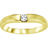 Band for woman - 10K yellow Gold & Diamond