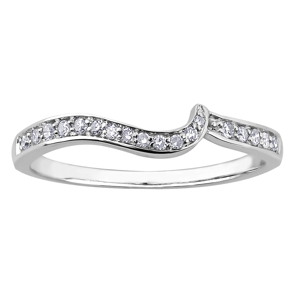 Éclat du Nord wedding band for woman - 10K white gold & Canadian Diamonds