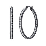 Hoop earrings - Stainless steel & Cubic zirconia