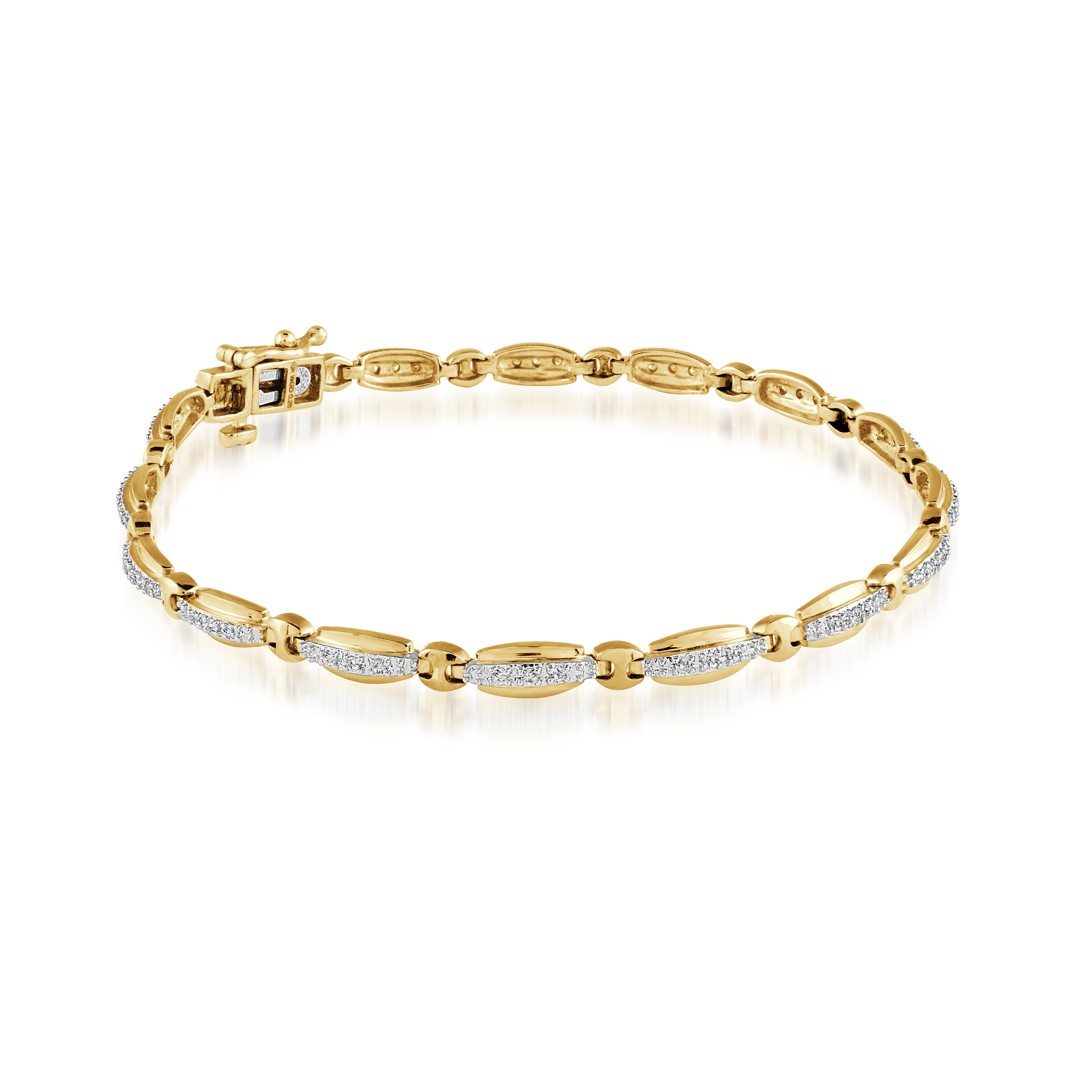 Bracelet - 10K yellow Gold & 0.26 Diamonds T.W.