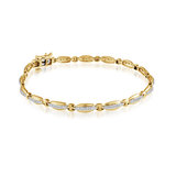 Bracelet - Or jaune 10K & Diamants totalisant 0.26 carat