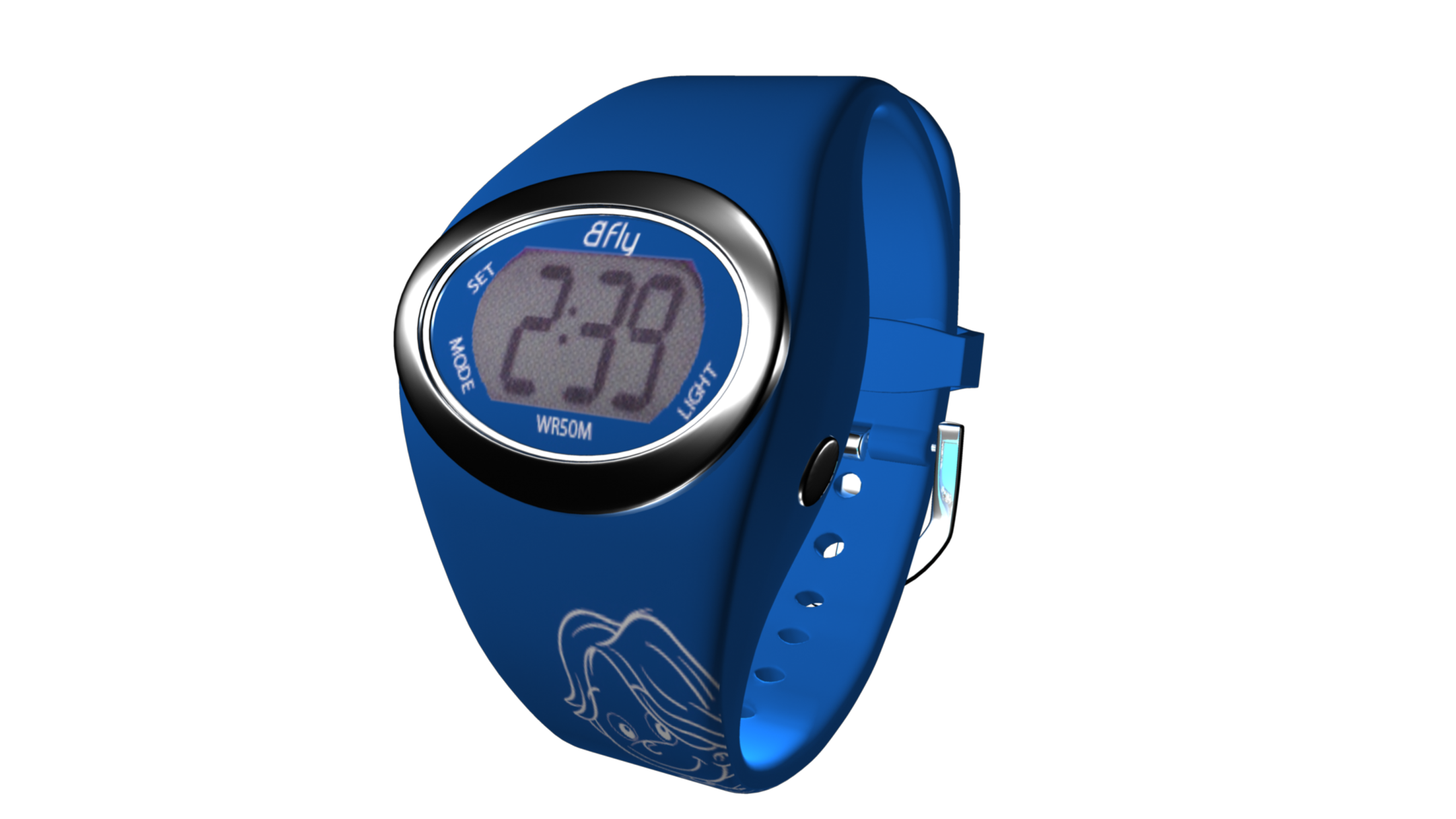 NIKO blue digital watch for boy - Adjustable to fit all sizes
