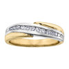 Half-eternity anniversary ring for woman - 10K 2-tone Gold & Diamonds