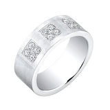 Band for man - Stainless steel & Cubic zirconia