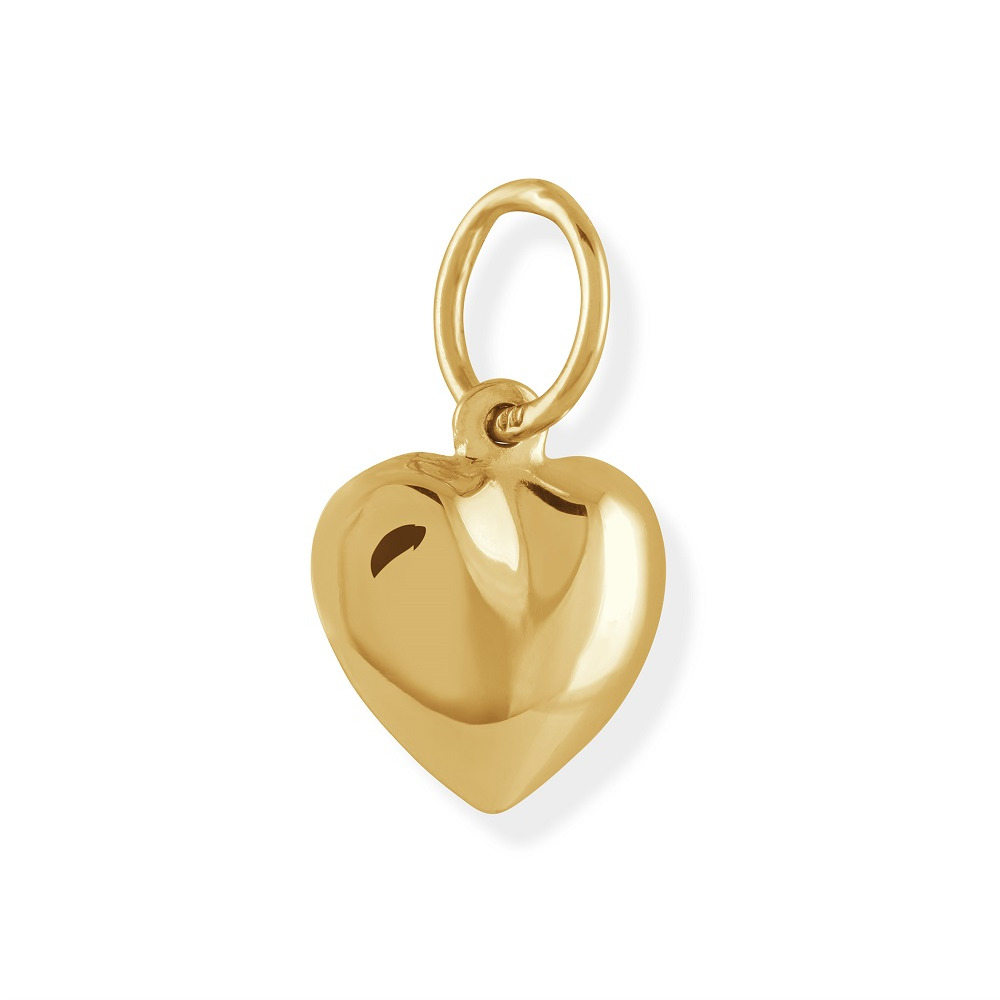 Heart pendant for babies - 10K yellow polished Gold