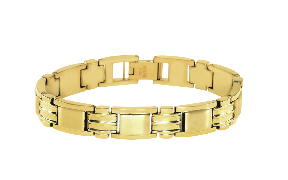 Men's bracelet - Yellow gold plated Stainless steel