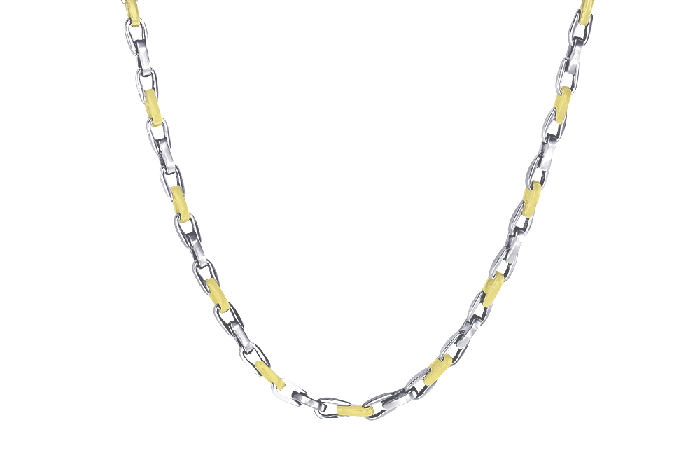 24'' Adjustable chain - 2-tone stainless steel