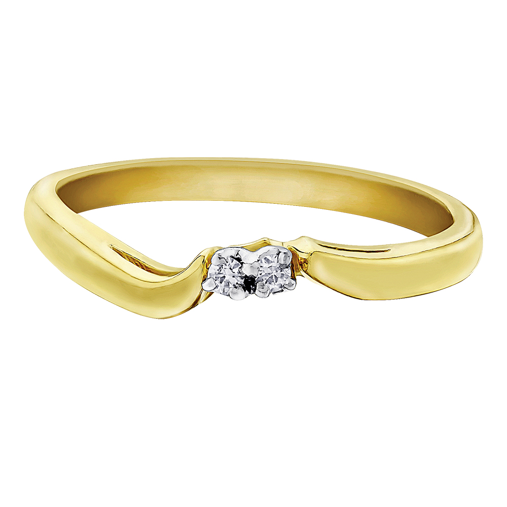 Éclat du Nord wedding band for woman - 10K yellow Gold & Canadian diamonds