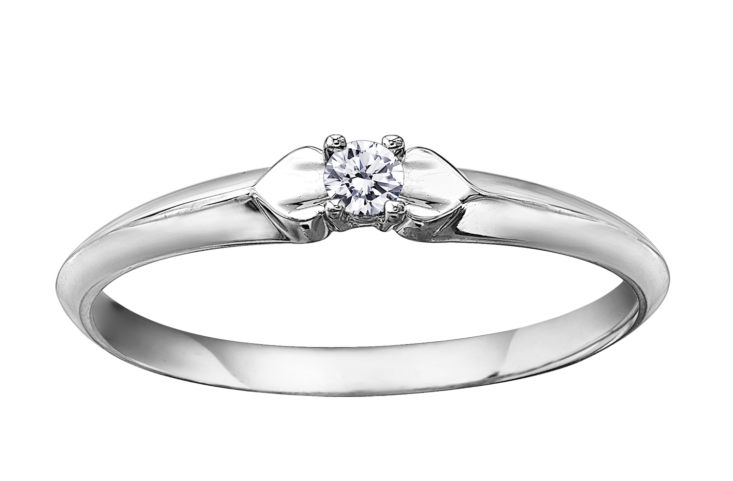 Engagement ring - 10K white Gold & Canadian diamond 0.05 Carat T.W.