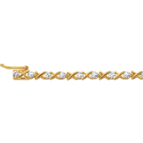 Tennis bracelet for woman - 10K yellow gold & Diamonds