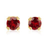 Earrings - 14K yellow Gold & approximately 3mm Garnet(january)