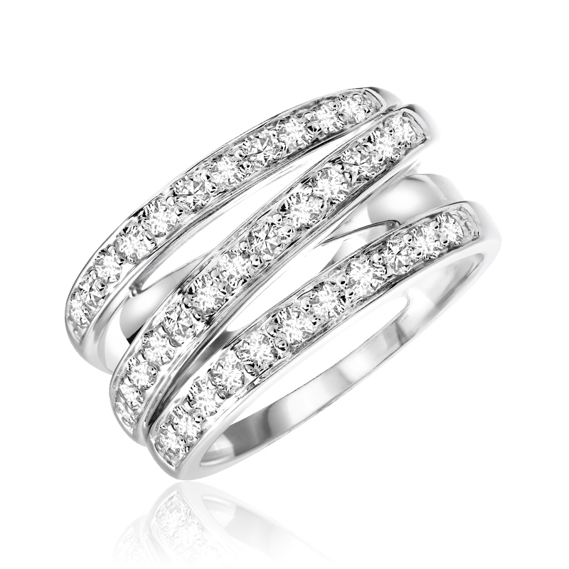 Bague cocktail pour femme - Or blanc 14K & Diamants