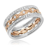 Ring for woman - 14K 2-tone Gold & Diamonds