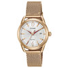 Eco-Drive watch for women - Silver dial with red hands and mineral crystal