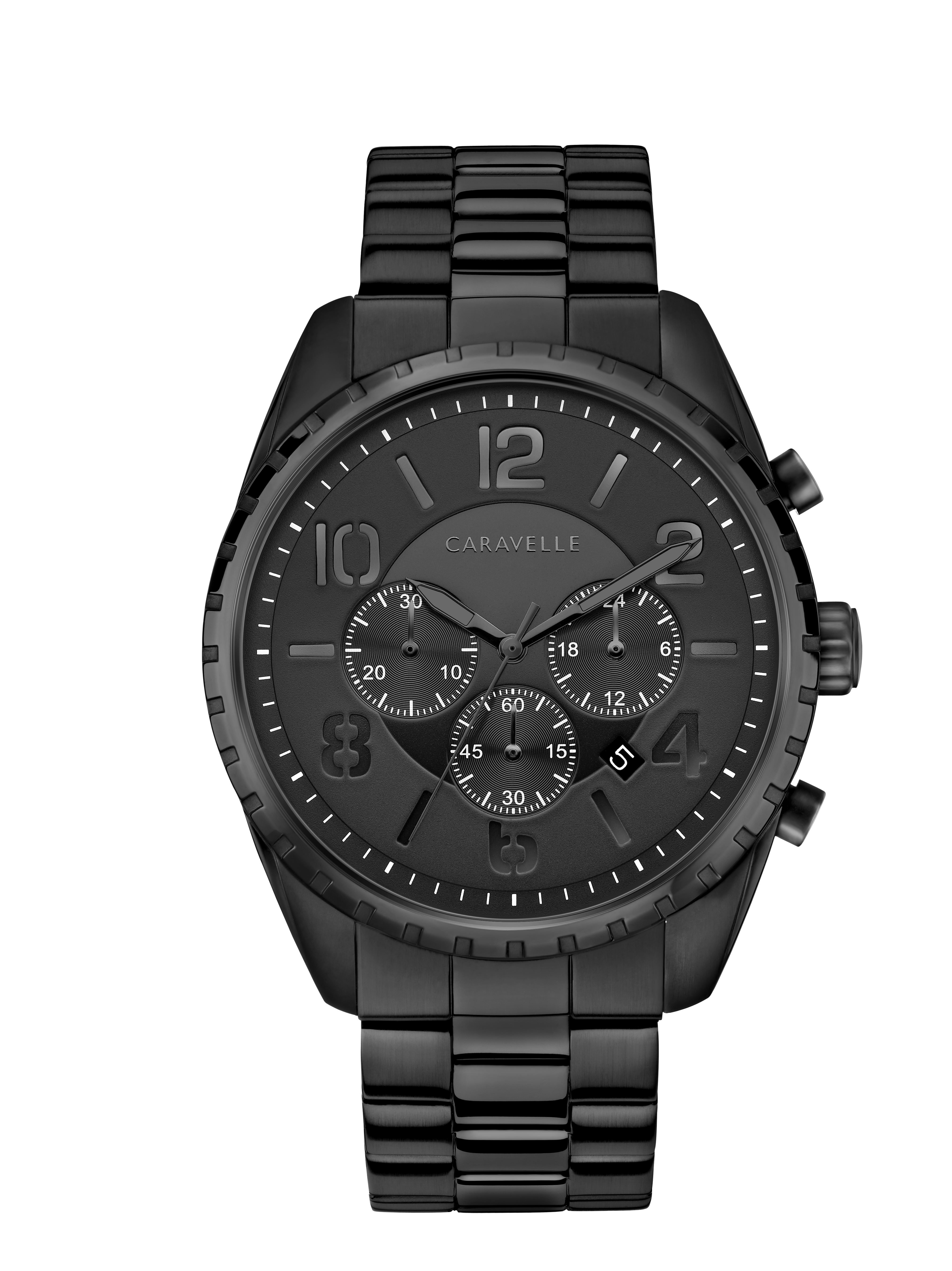 NY Watch for Man - Black ion plated stainless steel & Multi-layer black dial