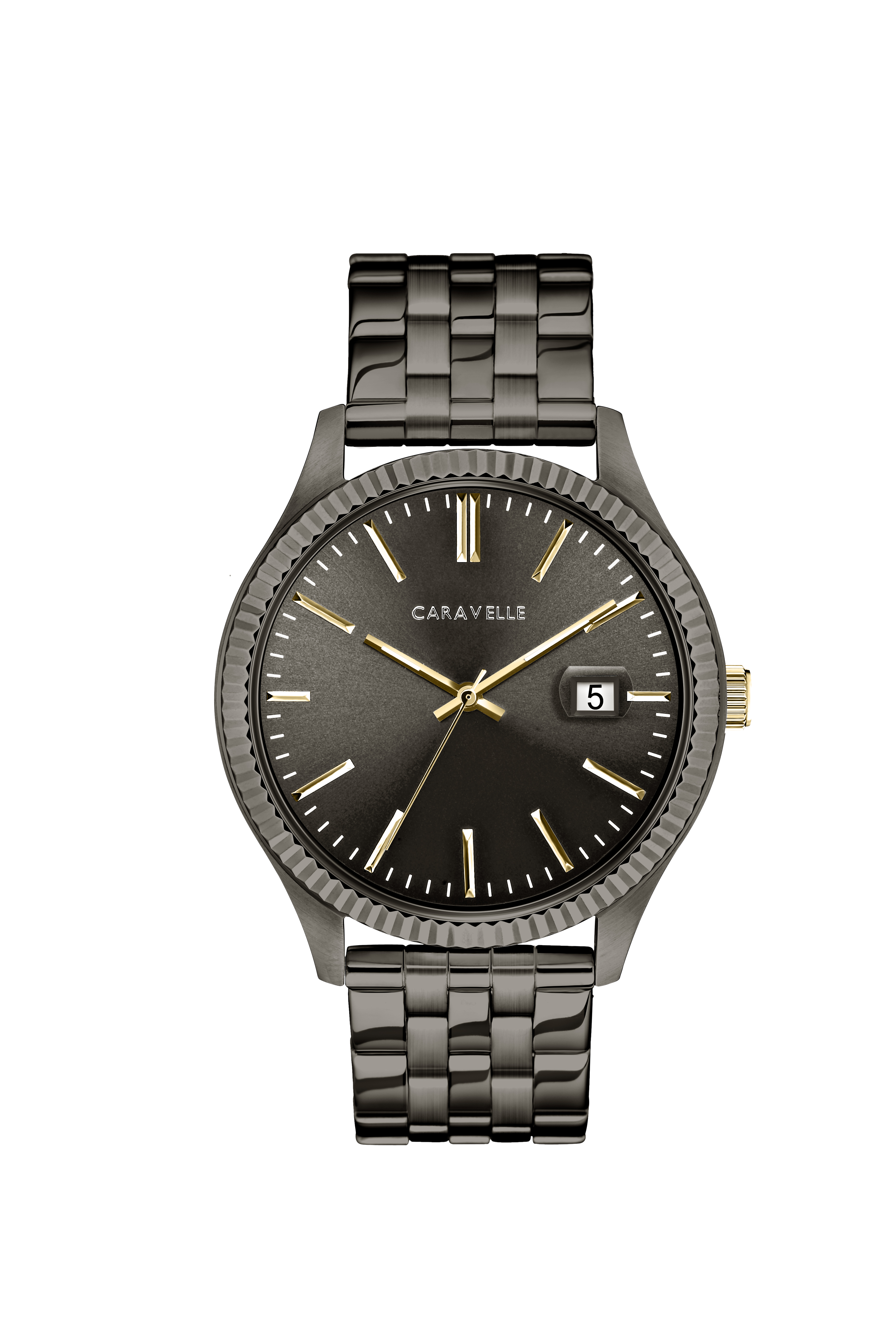 NY Watch for men - Gunmetal stainless steel & Grey dial