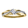 Engagement ring - 10k 2-tone Gold & Canadian diamonds T.W. 0.5 Carat