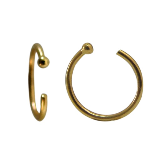Nose hoop - 14K yellow Gold - *ONE ITEM  picture doubled for better preview*