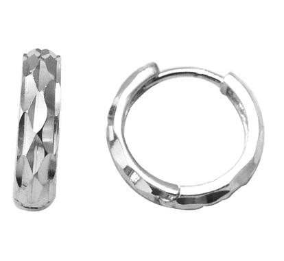 Boucles d'oreilles huggies coupe diamant - Argent sterling