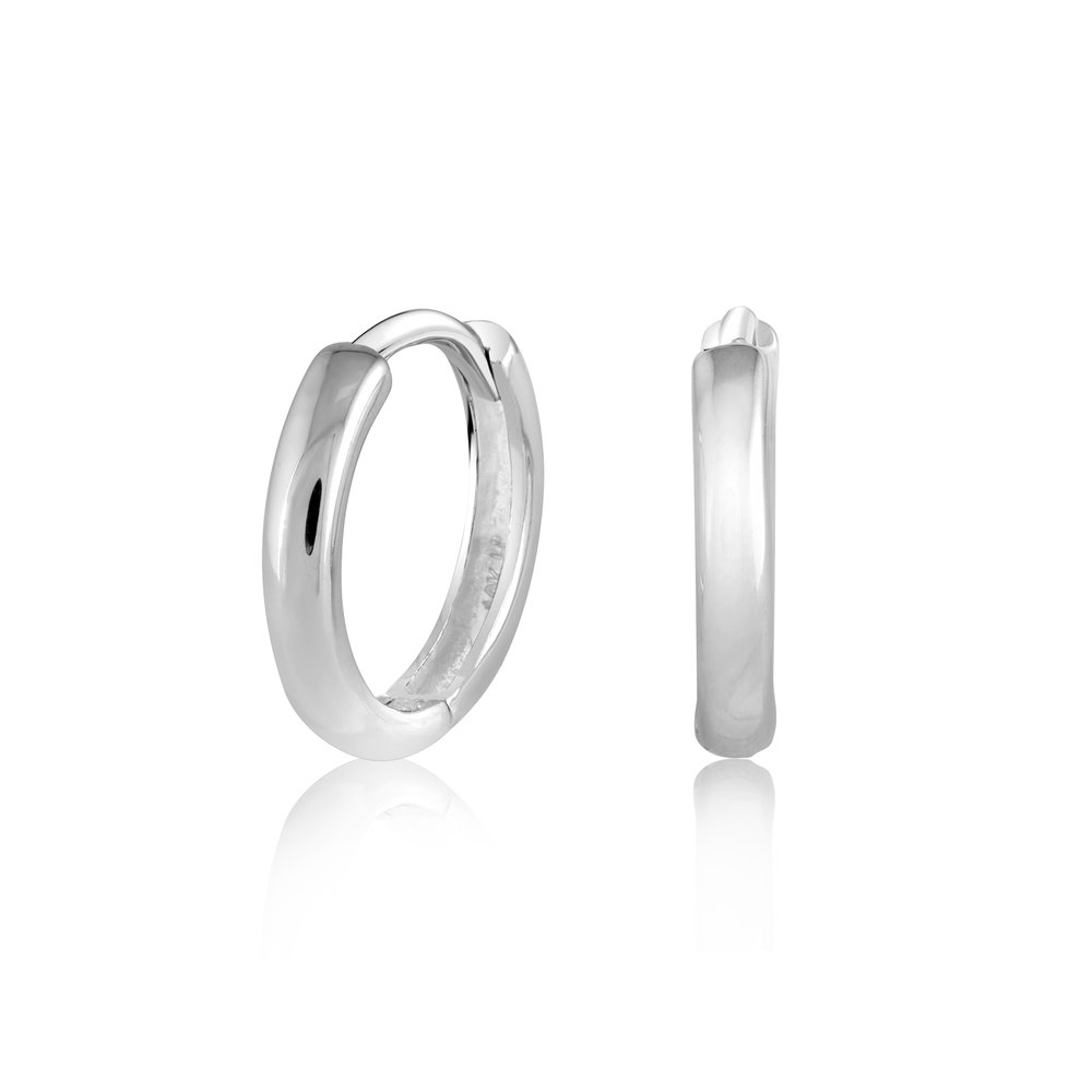 Hoop earrings for toddler - 10K white Gold