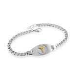 Medical bracelet - 2-tone Stainless steel
