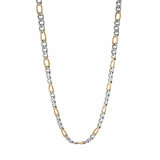24'' figaro chain - 2 tone stainless steel