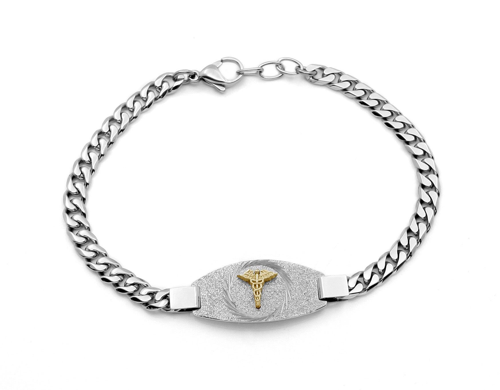 Medical bracelet - 2-tone stainless steel