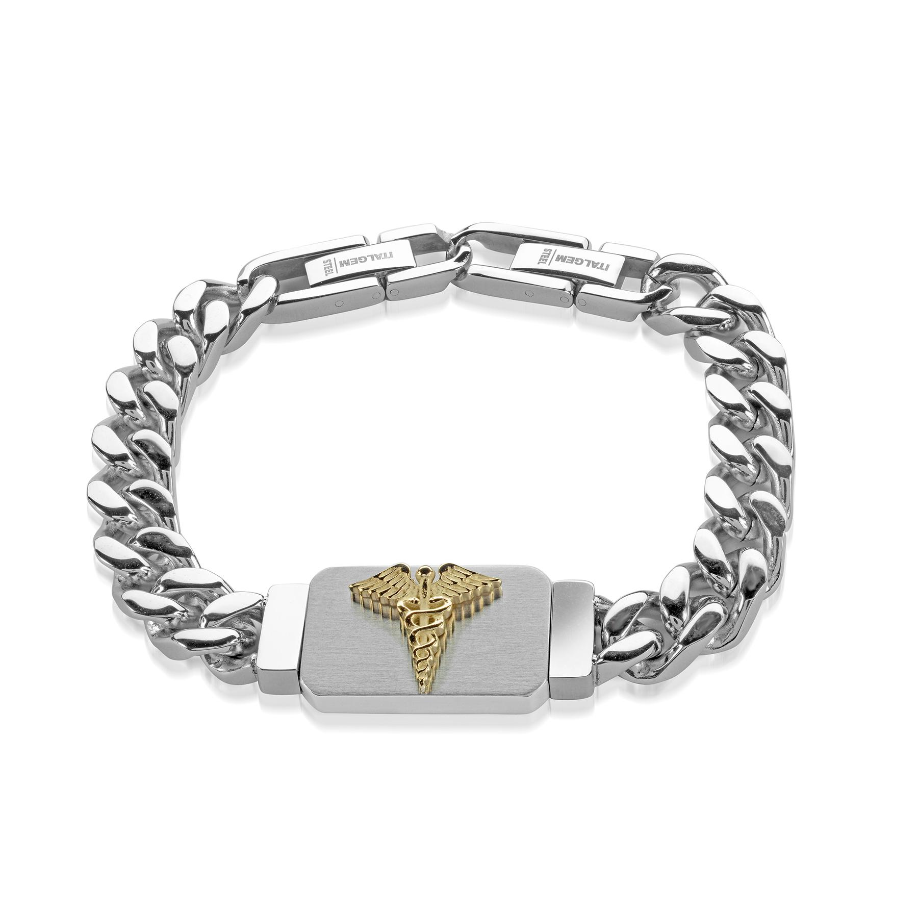 8.5'' medical bracelet - Stainless steel