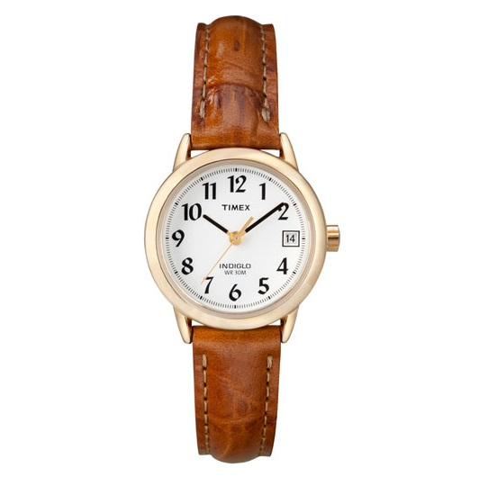 watch with quartz movement for women - Leather band