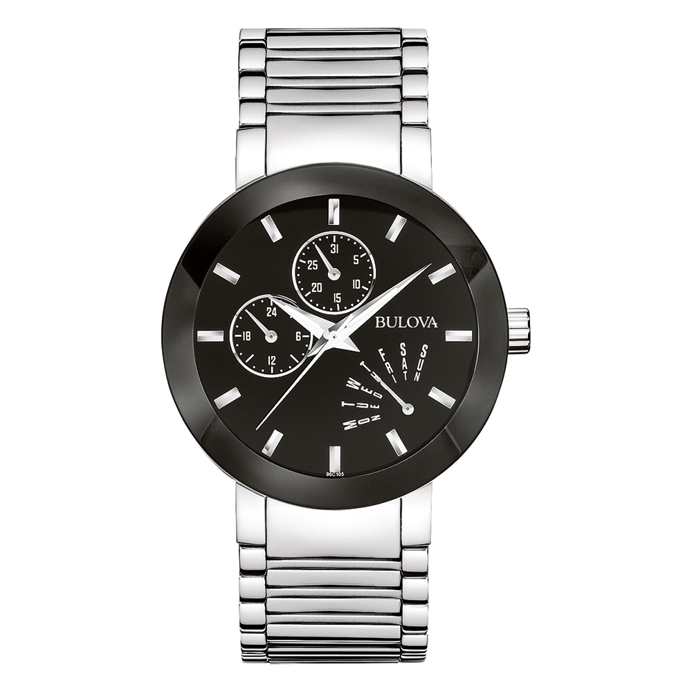 watch with quartz movement for men - Black dial