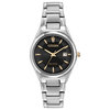 Eco-Drive watch for women - Dark grey dial with mineral crystal