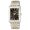 watch with quartz movement for men - Black dial and mineral crystal