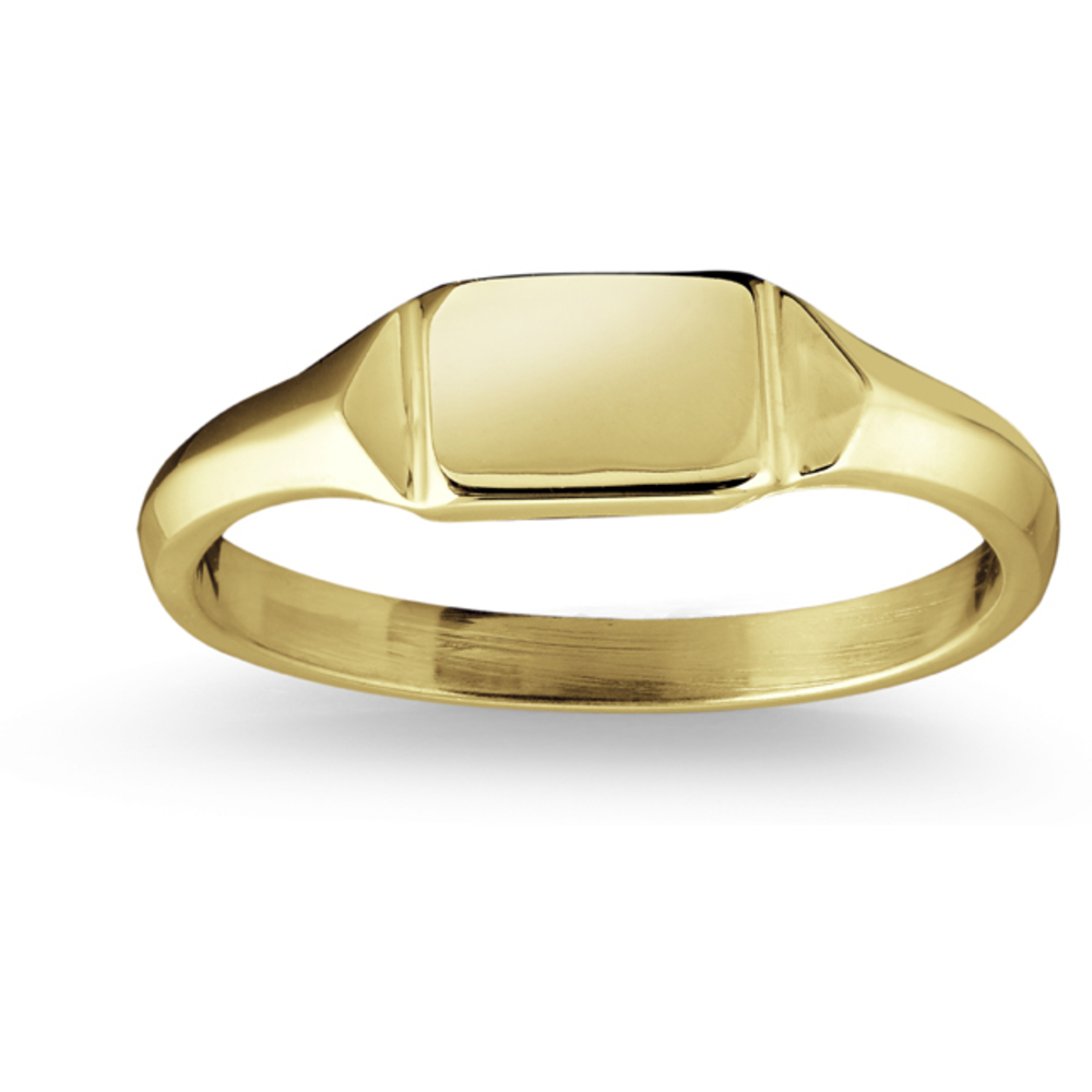 Baby's ring mini-signet - 10K yellow polish Gold