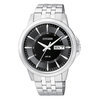 watch for men with quartz movement  - Black dial with