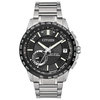 Eco-Drive watch for men - Black dial with anti-reflective sapphire crystal