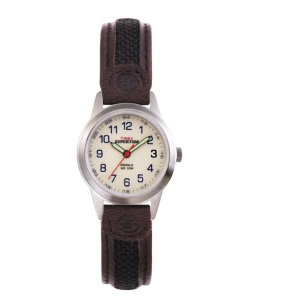 Expedition watch with quartz movement for women - Leather band