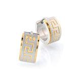 Huggies earrings - 2-tone stainless steel