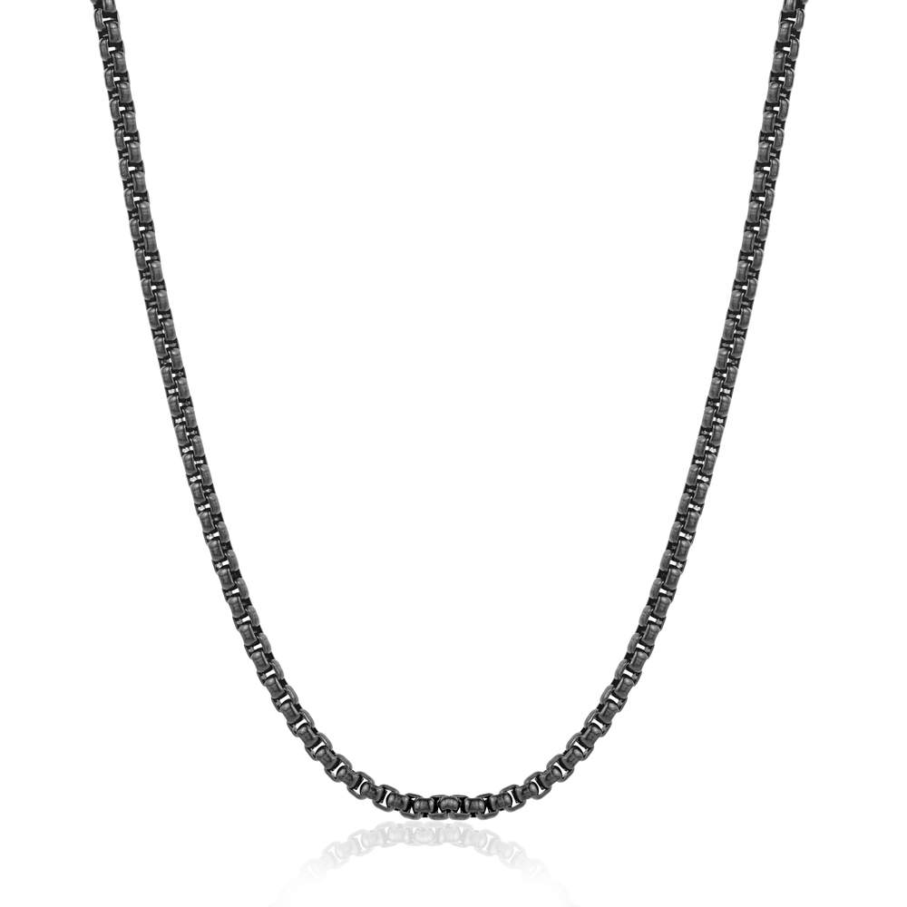 20-inch black stainless steel chain
