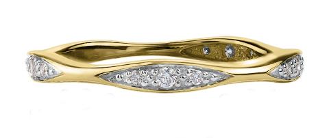 Jonc pour femme - Or jaune 10K & Diamants totalisant 0.10 Carat